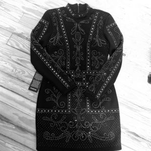 HTF Bebe studded embellished dress NWT!